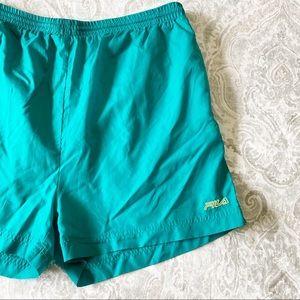 FILA Athletic Shorts Green Small